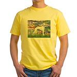 Lilies & Whippet Yellow T-Shirt