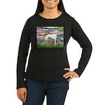 Lilies & Whippet Women's Long Sleeve Dark T-Shirt