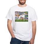 Lilies & Whippet White T-Shirt