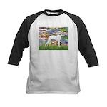 Lilies & Whippet Kids Baseball Jersey