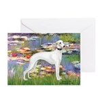 Lilies & Whippet Greeting Cards (Pk of 10)