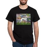 Lilies & Whippet Dark T-Shirt