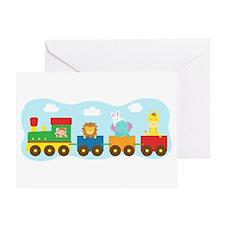 animal-train-T-shirt Greeting Cards