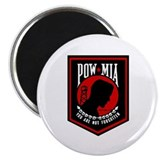 POW MIA (Red) 2.25&quot; Magnet (100 pack)