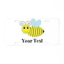 Personalizable Honey Bee Aluminum License Plate