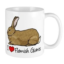 I Heart Flemish Giant Rabbits Mugs
