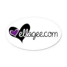 Ellagee Logo Oval Car Magnet