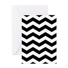 Black And White Chevron Greeting Cards