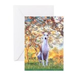 Spring / Whippet Greeting Cards (Pk of 10)