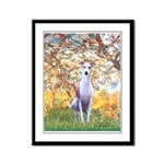 Spring / Whippet Framed Panel Print