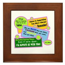 Always Be With You-A. A. Milne Framed Tile