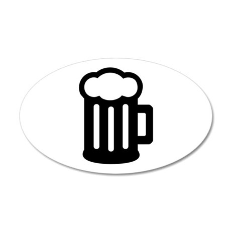 Beer 20x12 Oval Wall Decal