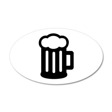 Beer 35x21 Oval Wall Decal
