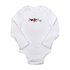 charm_lv pugs super link.jpg Long Sleeve Infant Bo