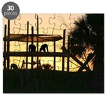 Save the Chimps - sunset Puzzle