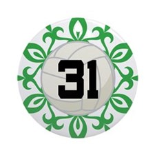 Volleyball Player Number 31 Ornament (Round)