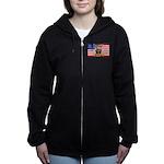 U.S.A. Rhodesia Flag Women's Zip Hoodie