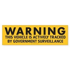 Surveillance Warning Bumper Bumper Sticker