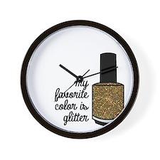 Gold Glitter Wall Clock