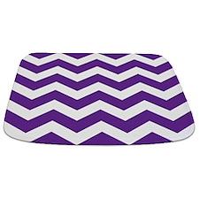 Purple And White Chevron Bathmat