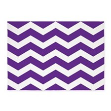 Purple And White Chevron 5'x7'Area Rug
