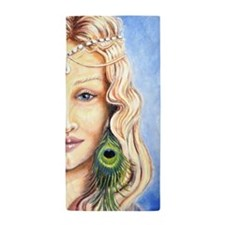 Goddess With Peacock Feather Beach Towel
