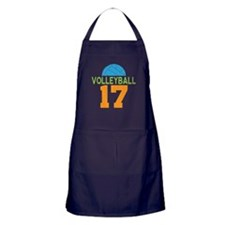 Volleyball player number 17 Apron (dark)
