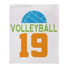 Volleyball player number 19 Throw Blanket