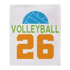 Volleyball player number 26 Throw Blanket