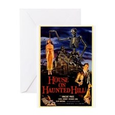 house on haunted hill Greeting Cards