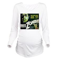 white zombie Long Sleeve Maternity T-Shirt