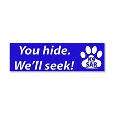 Funny Search rescue Car Magnet 10 x 3
