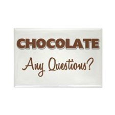 Chocolate Any Questions Rectangle Magnet