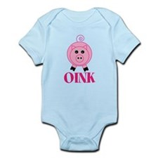 OINK Cute Pink Pig Body Suit