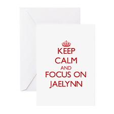 Keep Calm and focus on Jaelynn Greeting Cards