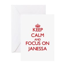 Keep Calm and focus on Janessa Greeting Cards