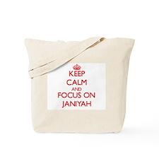 Keep Calm and focus on Janiyah Tote Bag