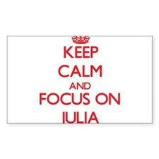 Keep Calm and focus on Julia Decal