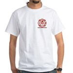 Masonic Fire fighter thin red line White T-Shirt