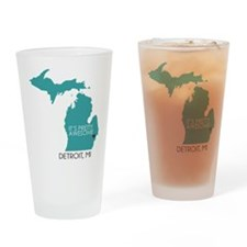 DETROIT Drinking Glass