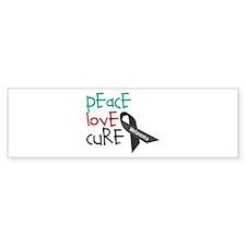 Peace Love Cure Bumper Bumper Sticker