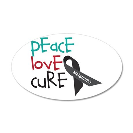 Peace Love Cure Wall Decal