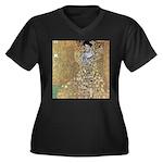 "Klimt's ""Adele"" Women's Plus Size V-Neck"