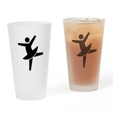 Dancing Woman Drinking Glass