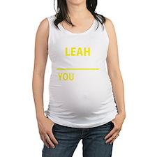 Funny Leah Maternity Tank Top