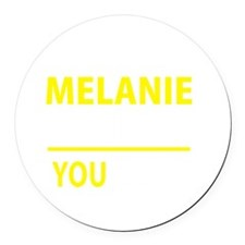 Cute Melany Round Car Magnet