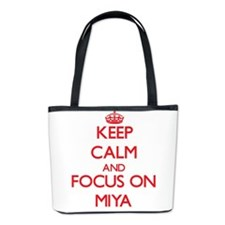 Keep Calm and focus on Miya Bucket Bag