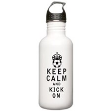 Keep Calm and Kick On Water Bottle