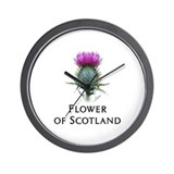 Flower of Scotland Wall Clock