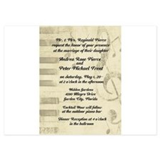 Musical Design Wedding Invitations Invitations